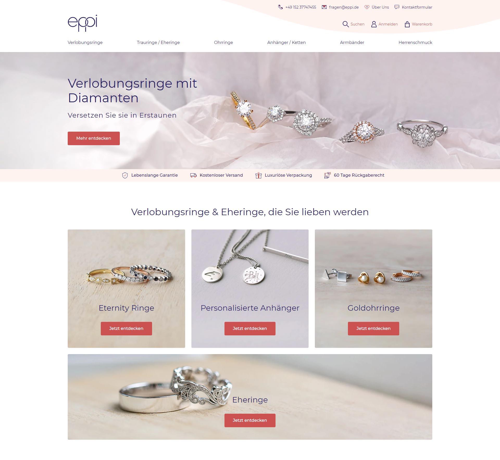 Nový německý web