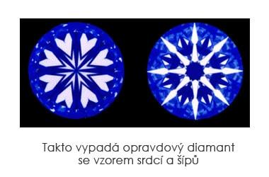 Takto vypadá opravdový diamant se vzorem srdcí a šípů