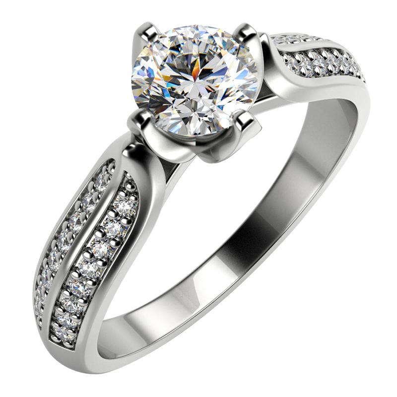 Eppi Zásnubní prsten s diamanty Katynie RE33057