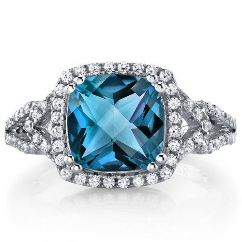 8201efe76 Stříbrný prsten s topazem a zirkony Delly | Eppi.cz