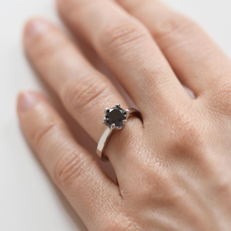 Mysticky Zasnubni Prsten S 1ct Cernym Diamantem Mukti Eppi Cz