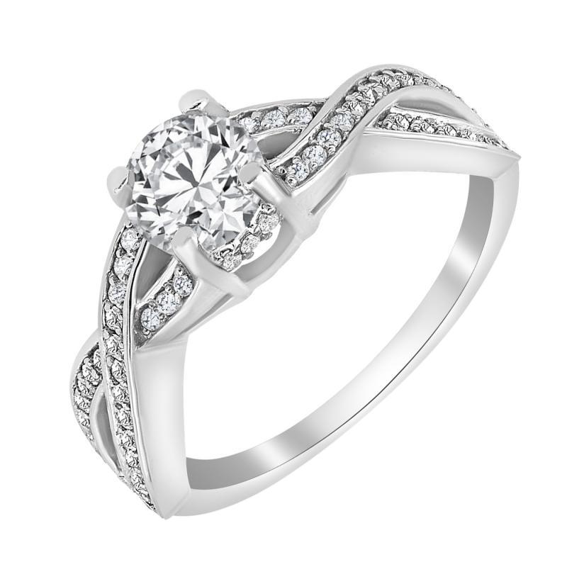 Luxusní infinity zásnubní prsten s diamanty Frankie  1cb65df8ffb