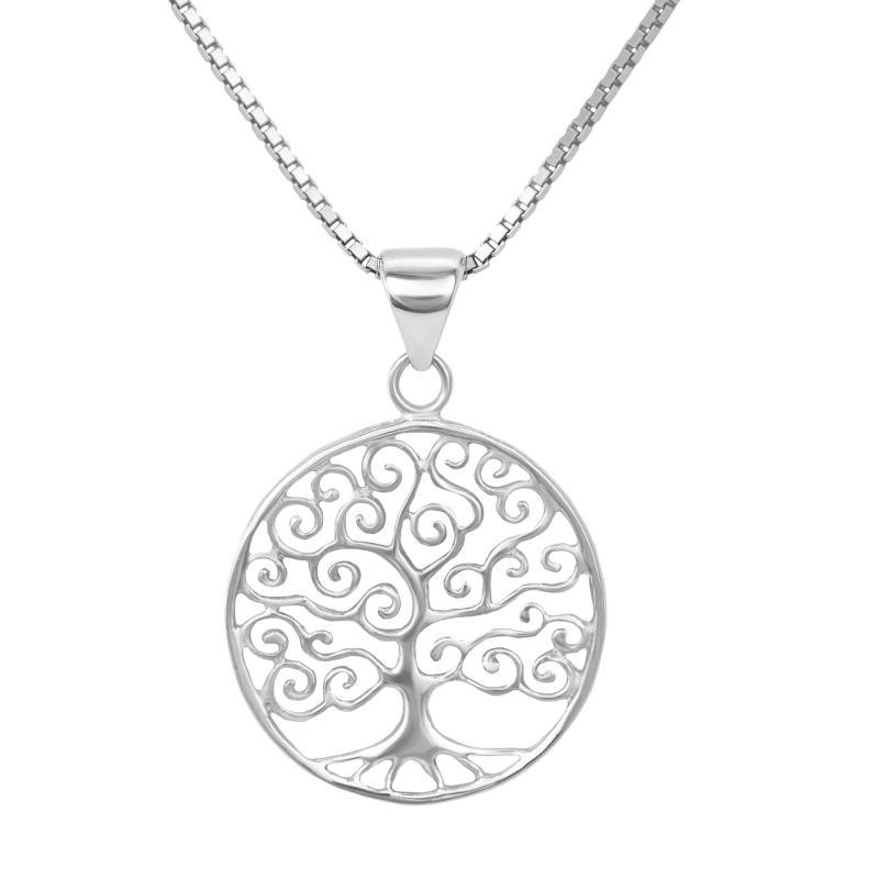Stříbrný přívěsek ve tvaru stromu života Urle ... 48db8ea695e