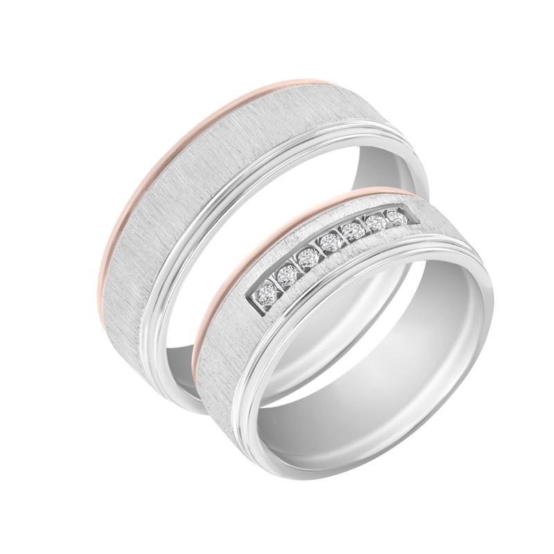 Eppi Zlaté snubní prsteny s diamanty Jaulis RW36295
