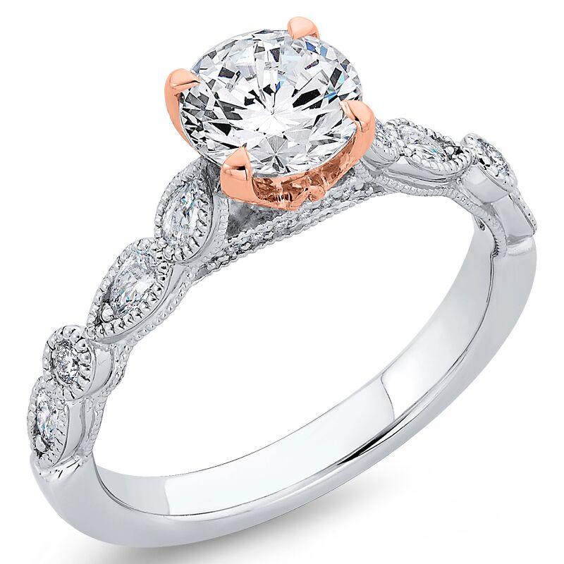 Eppi Zlatý vintage diamantový zásnubní prsten Noelani RE37828