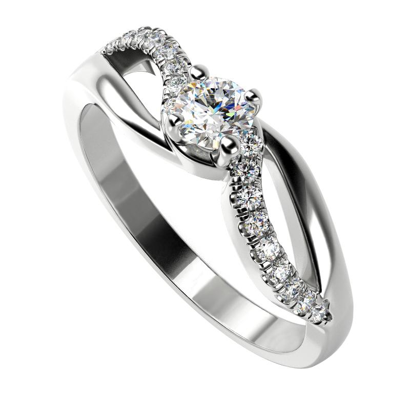 Eppi Zásnubní prsten s diamanty Wemy RE33026