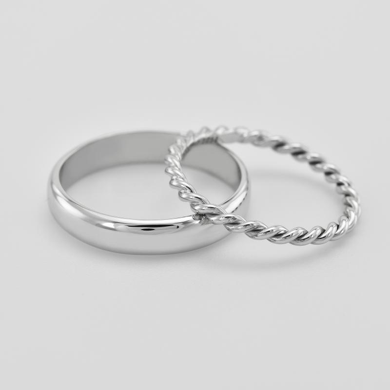 718e82760 ... Netradiční snubní prsteny ze zlata s provazovitým motivem Yalla ...