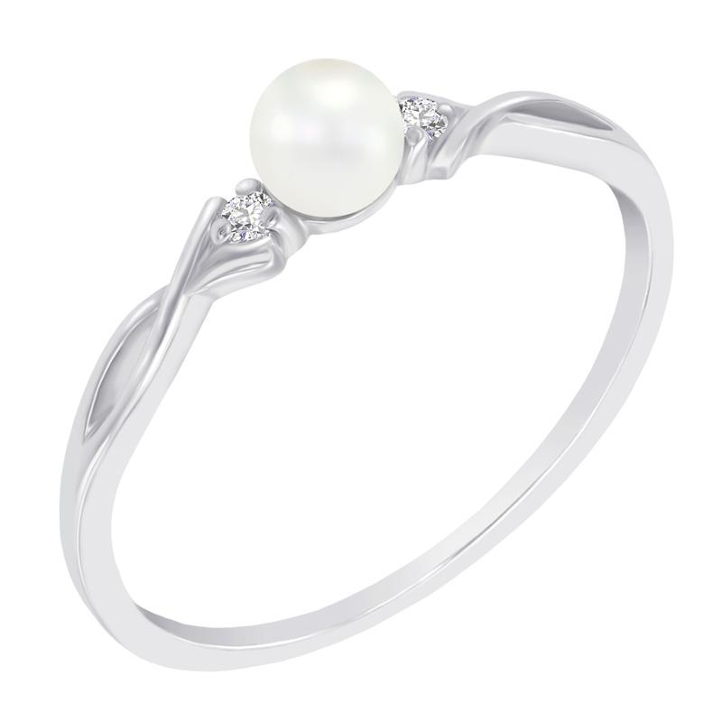 1b0df924e Elegantní zlatý prsten s perlou a diamanty Azalea | Eppi.cz