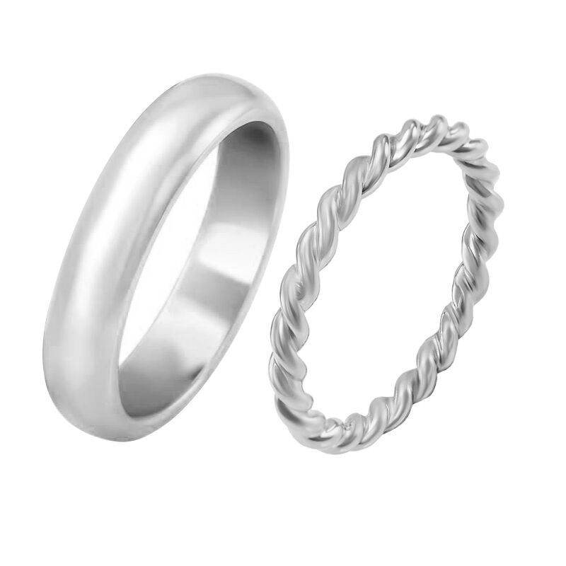af84f79fc Netradiční snubní prsteny ze zlata s provazovitým motivem Yalla ...