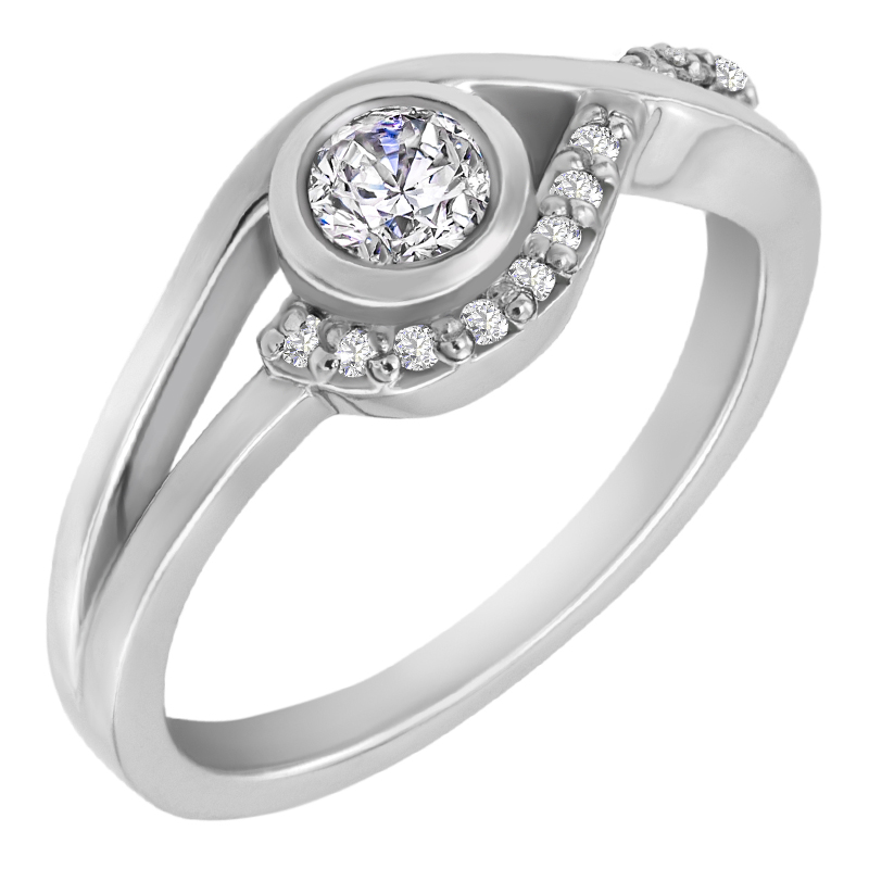 Eppi Zásnubní prsten s diamanty Milia RE32929