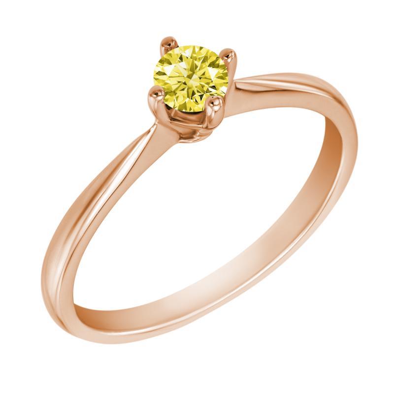 Zasnubni Prsten Se Zlutym Diamantem Lojaz Eppi Cz