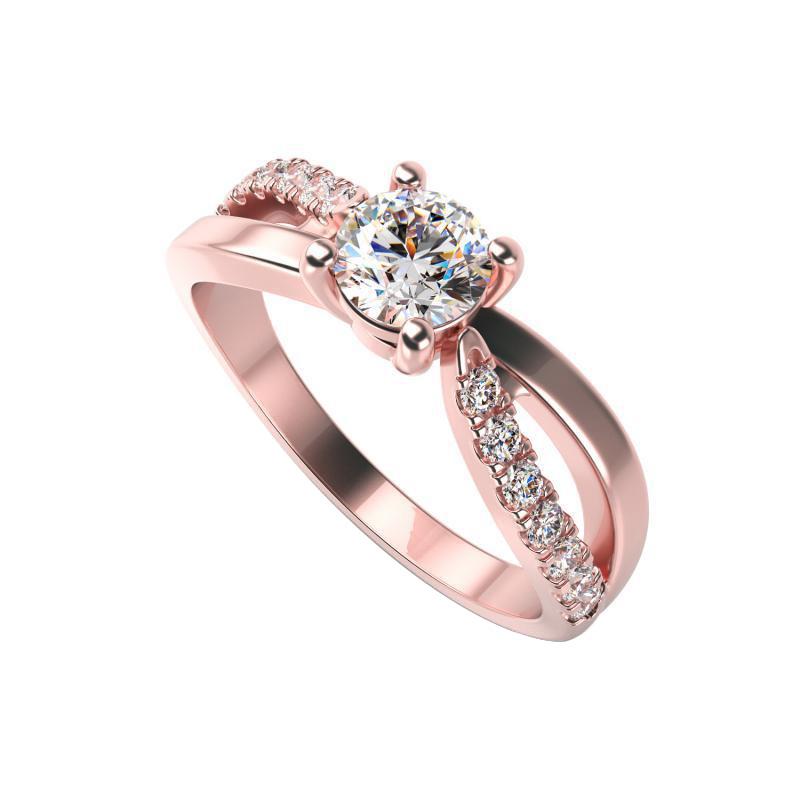 Eppi Zásnubní prsten s diamanty Sashy RE33293