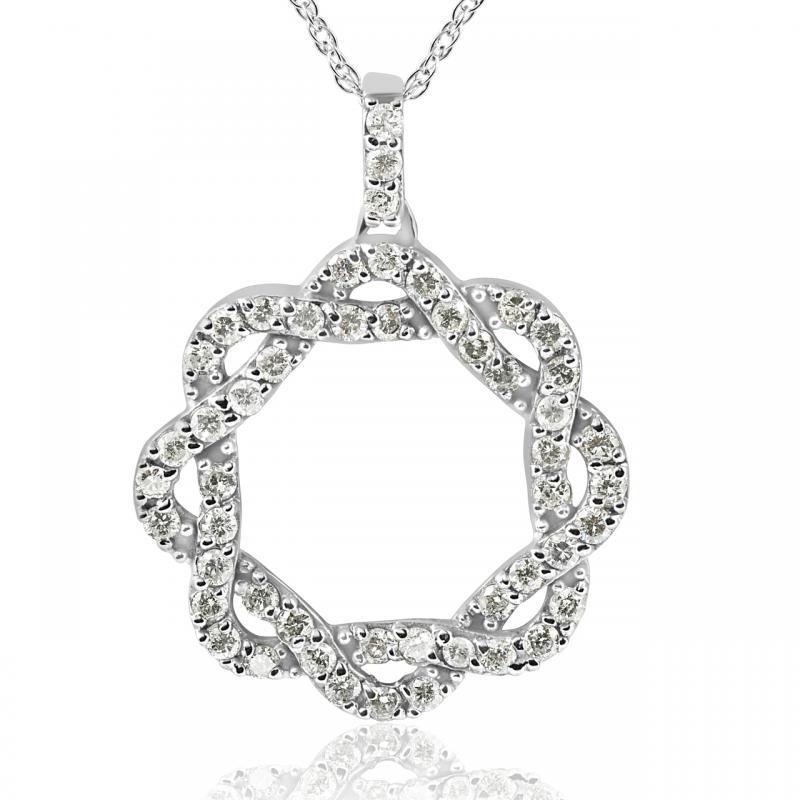683682b38 Třpytivý diamantový náhrdelník z bílého zlata Vilina   Eppi.cz