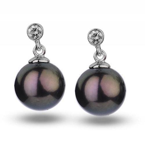 Perlové zlaté náušnice. Next. Video. Černé sladkovodní perly v náušnicích s  diamanty Dinah ... affcfbf75ab