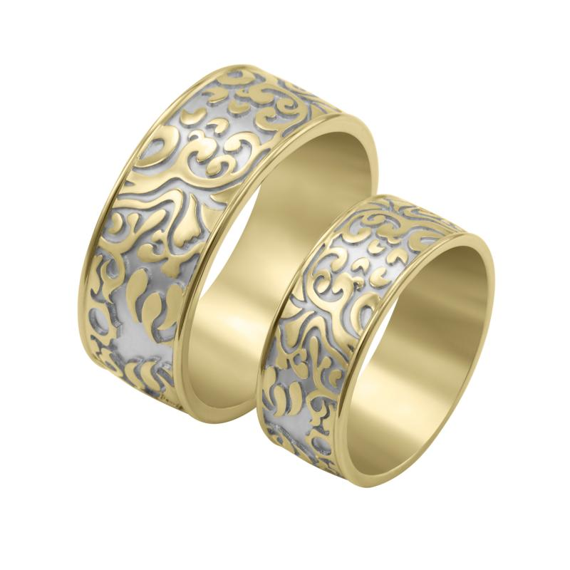 Netradicni Zlate Snubni Prsteny S Reliefem Virginie Eppi Cz