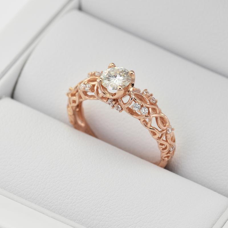 Vintage Zasnubni Prsten S Diamanty Chantal Eppi Cz
