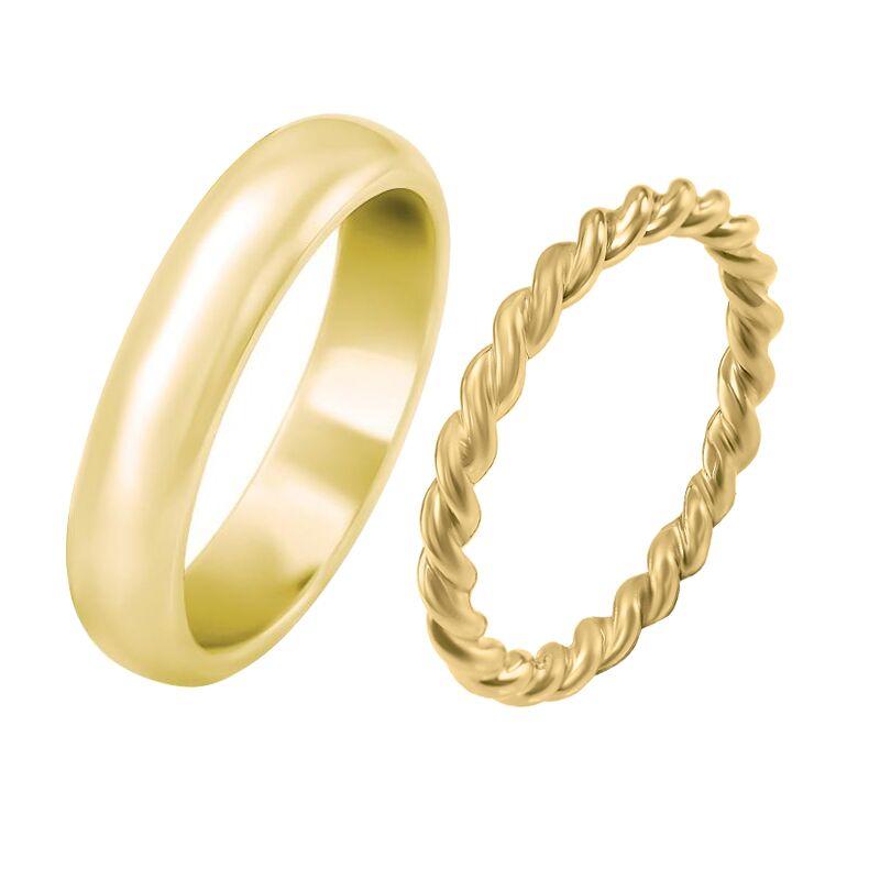 Netradicni Snubni Prsteny Ze Zlata S Provazovitym Motivem Yalla