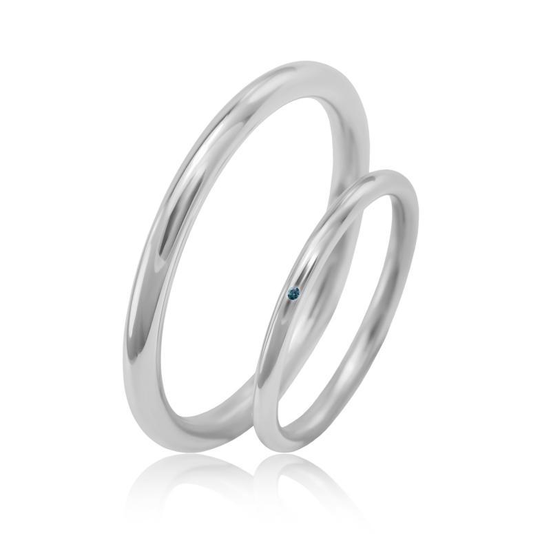 Zlate Jednoduche Snubni Prsteny S Modrym Diamantem Unja Eppi Cz