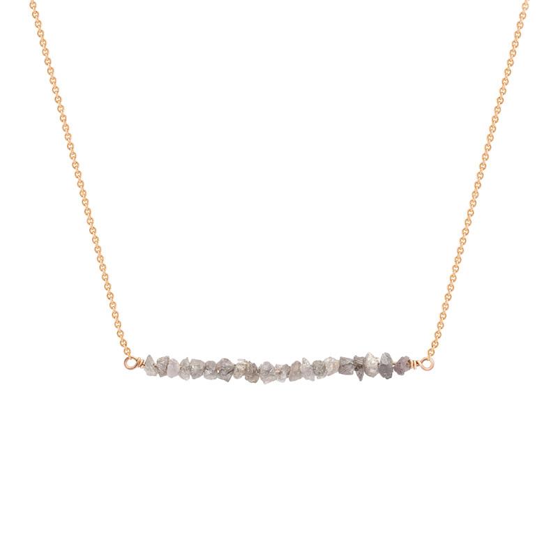 858c0e576 Zlatý choker s růžovými nebroušenými diamanty Wandalee | Eppi.cz