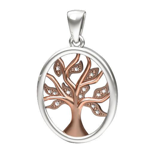 Zlatý přívěsek s diamanty Strom života  cb159104c4b