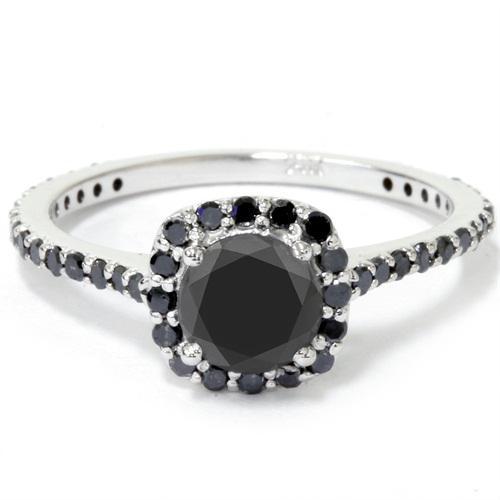 1e5a51407 Zásnubní prsten s černými diamanty Gayatri Zásnubní prsteny s barevnými  diamanty