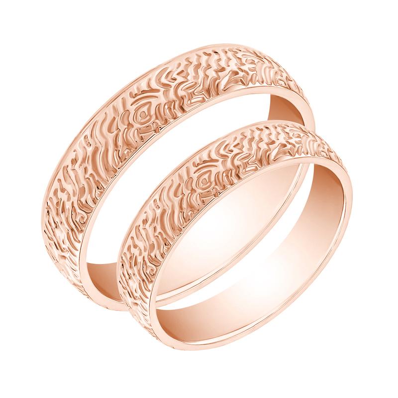 Eppi Netradiční zlaté snubní prsteny Ajima RW36308