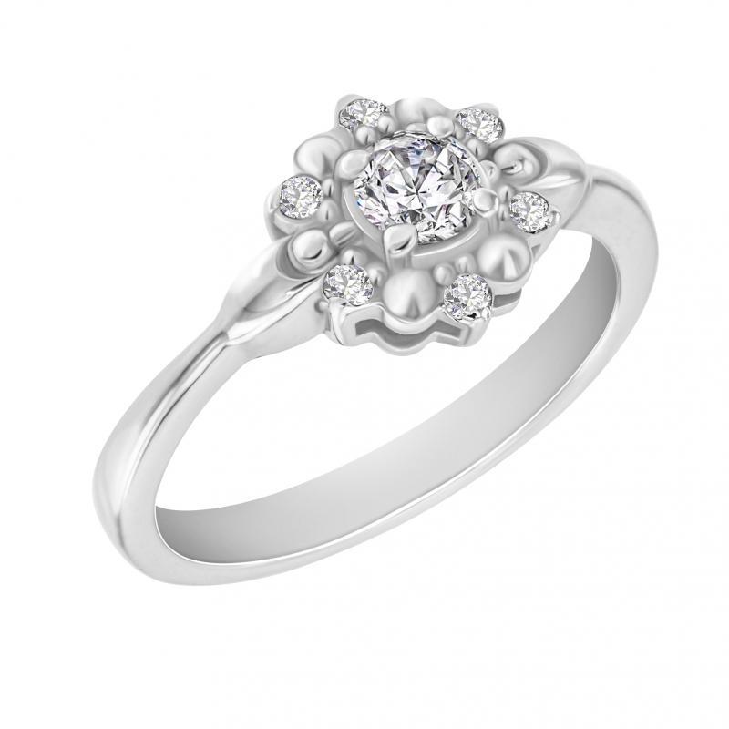 Eppi Zásnubní prsten s diamanty Dylah RE32449