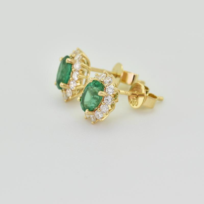... Zlaté smaragdové náušnice s diamanty Mariell ... 59a1a1619e2
