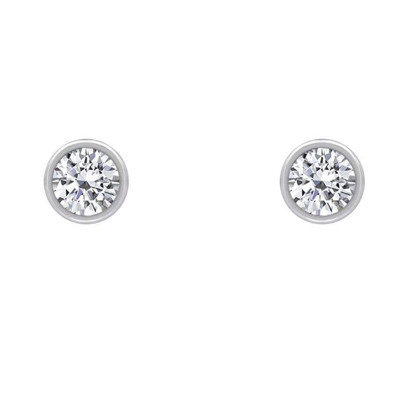 ecd5f1223 Platinové bezel náušnice s diamanty Jehan | Eppi.cz