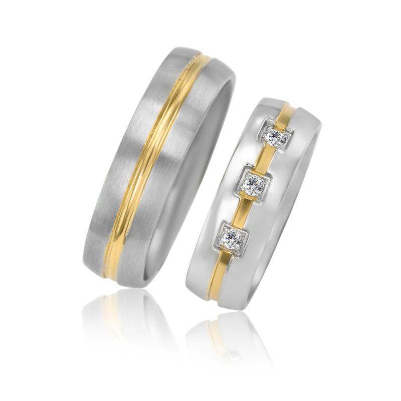 Zlate Snubni Prsteny S Diamanty Tesel Eppi Cz