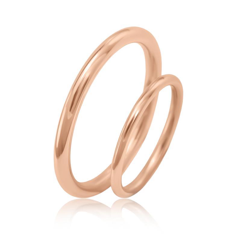 Eppi Zlaté minimalistické snubní prsteny Alays RW34802