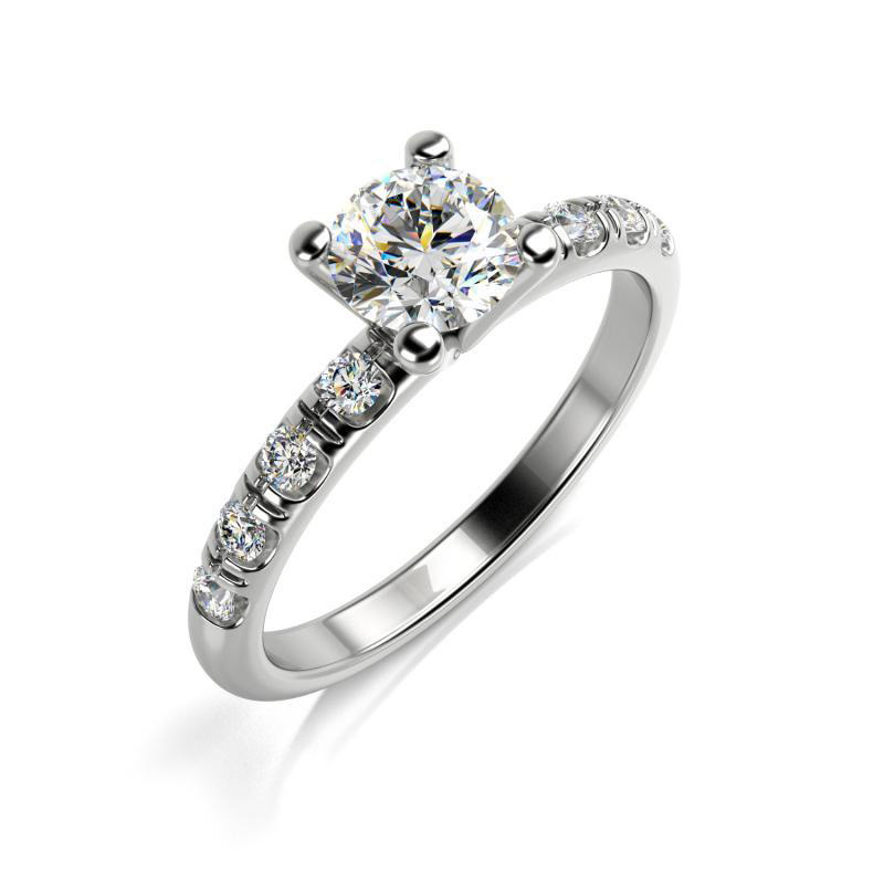 Zlaty Zasnubni Prsten S Gia 0 29ct Diamantem Meghan Eppi Cz