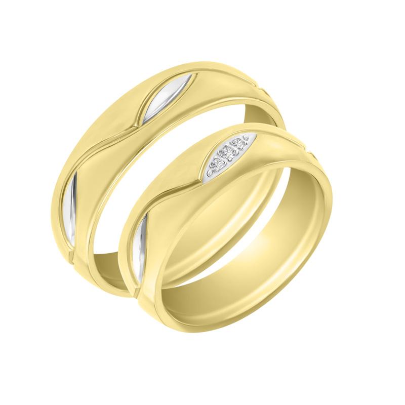 Eppi Zlaté snubní prsteny s diamanty Nanuka RW36293