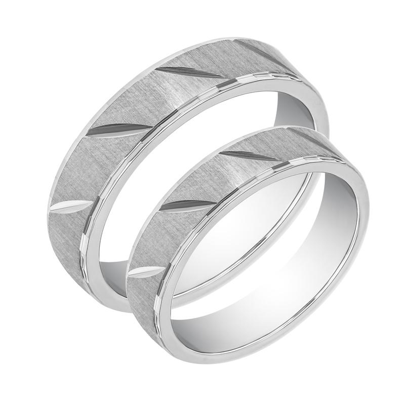 Eppi Zlaté snubní prsteny s vroubky Icvian RW36312