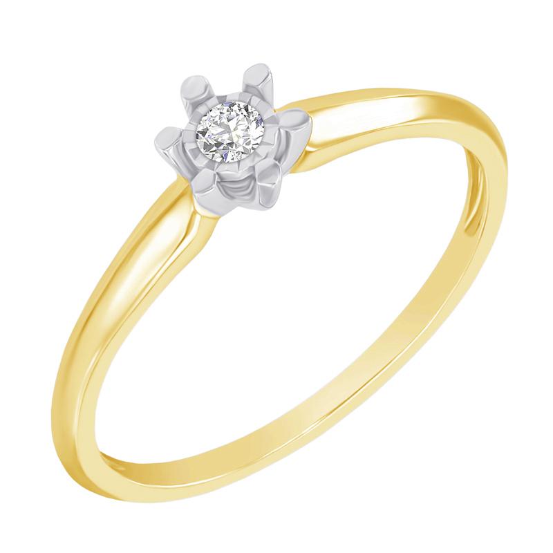 Eppi Zlatý zásnubní prsten ve stylu solitér Leandra R37294