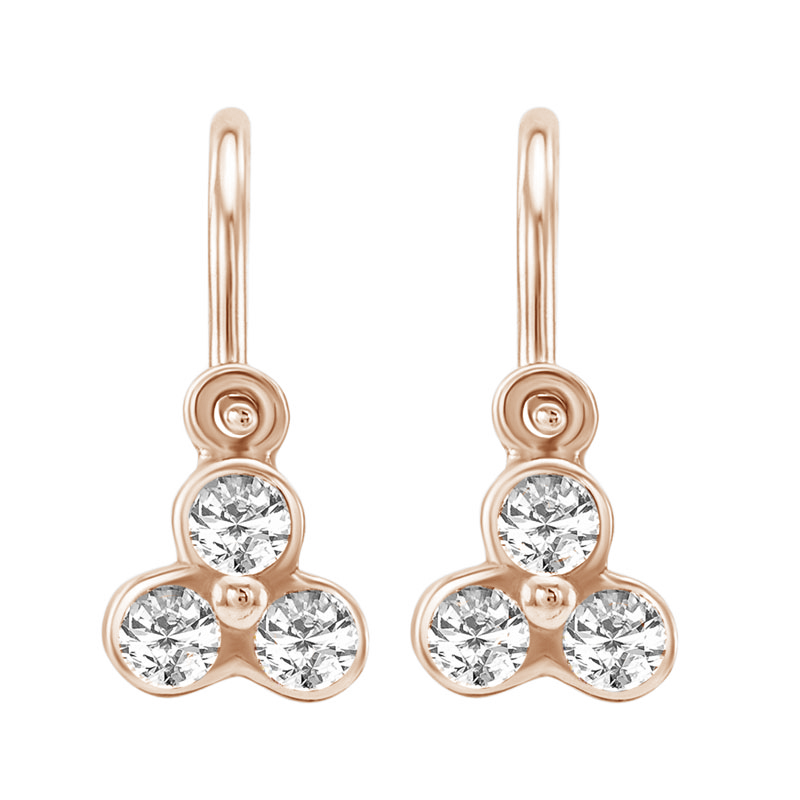 Eppi Zlaté dětské náušnice s diamanty Jasmine EP35956