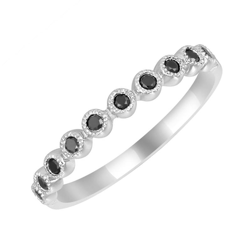 Eppi Zlatý eternity prsten vykládaný černými diamanty Eos R35847