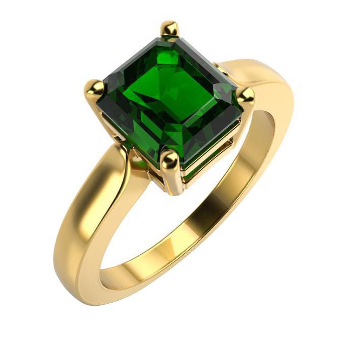 Eppi Zlatý zásnubní prsten se smaragdem Mahin R33533