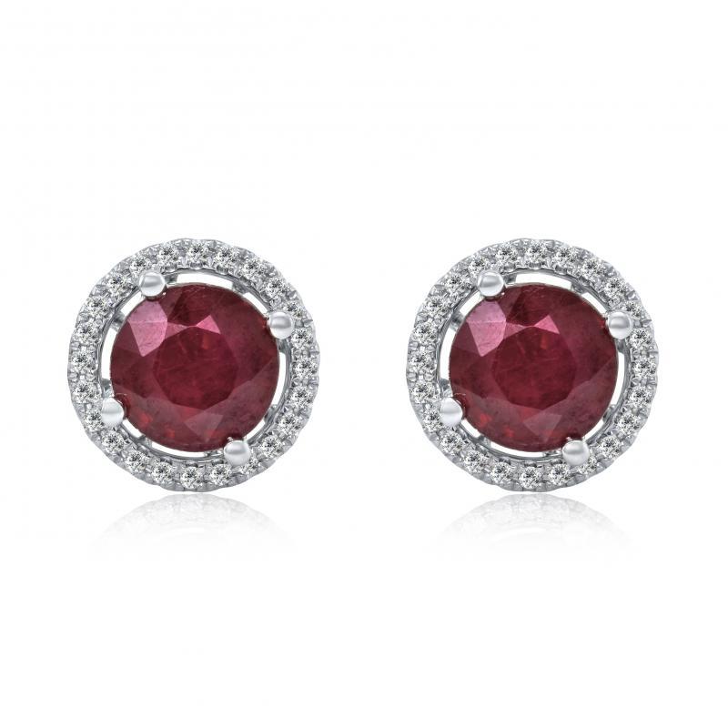 Rubínové pecky s diamanty Barea ... 233248dffc6