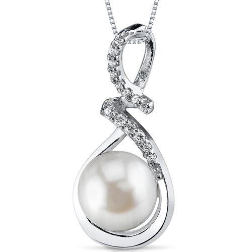 Eppi Stříbrný přívěsek s perlou a zirkony Sandria P35393