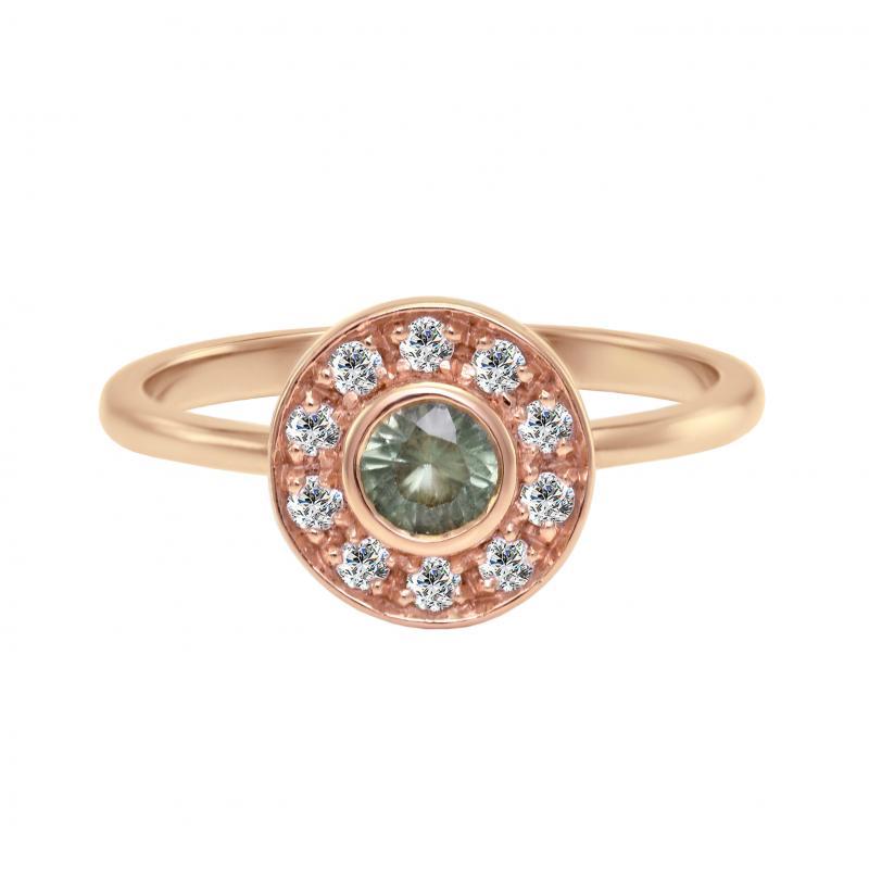 530008f85ac Zlatý prsten s alexandritem a diamanty Nina