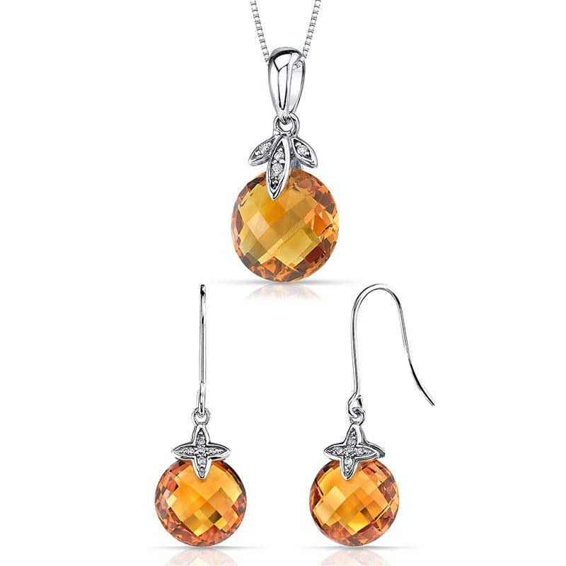 fa566b56c Zlatá citrínová kolekce s diamanty Gamil   Eppi.cz
