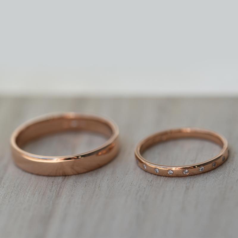 Zlaty Eternity Snubni Prsten S Diamanty A Komfortni Pansky Miomi
