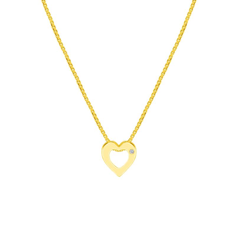 Eppi Stříbrný přívěsek ve tvaru srdce s diamantem Every P41166