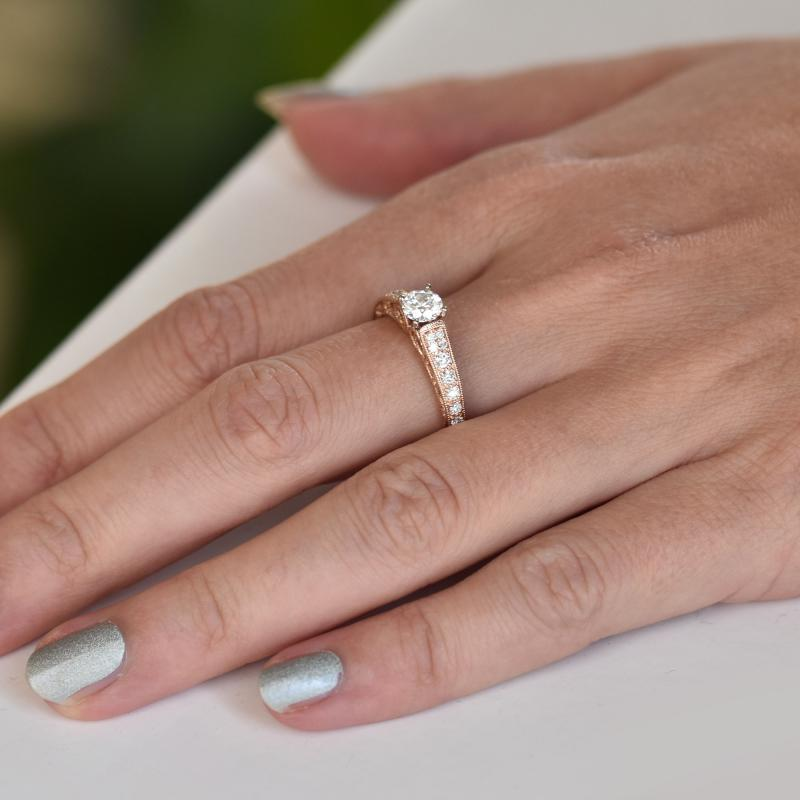 Zlaty Vintage Zasnubni Prsten Plny Diamantu Keran Eppi Cz