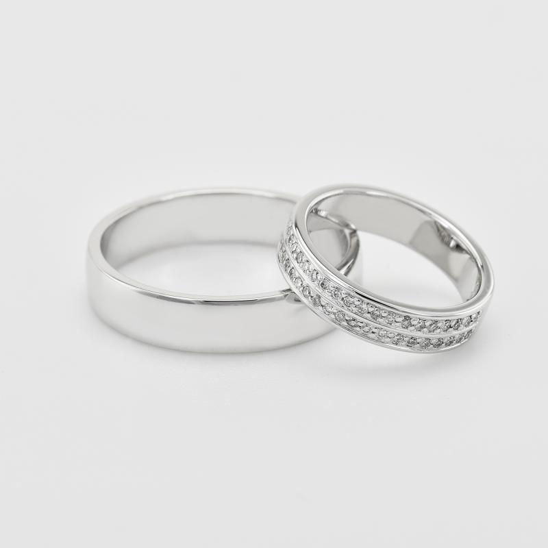 52b34fc4c Zlaté snubní prsteny s diamanty Sydell | Eppi.cz