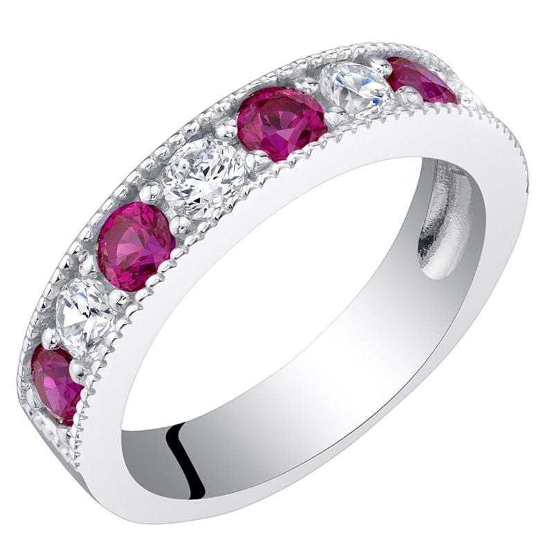 Eppi Eternity prsten ze stříbra s rubíny a zirkony Ednah R36000