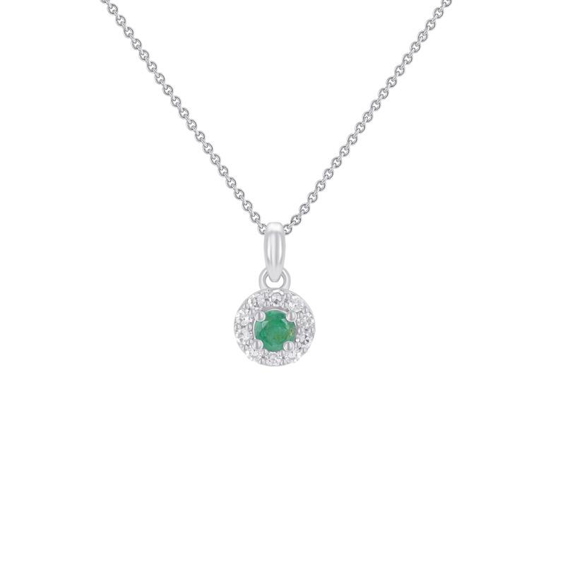 ff2cd4af1 Smaragdový halo náhrdelník ze zlata s diamanty Florrie   Eppi.cz