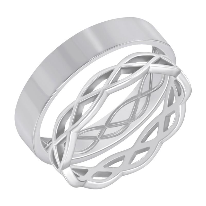 Eppi Zlaté propletené snubní prsteny Amazu RW40923