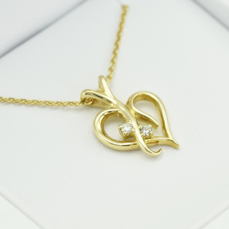 0fc6ae941 Zlaté srdce s diamanty v náhrdelníku Salinas | Eppi.cz
